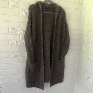 American Eagle Knit Hooded Cardigan Size XS-S